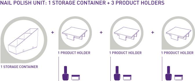 Nail polish storage unit
